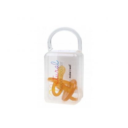 Round Natural Rubber Soother TWIN PACK Large (6 mths+) by Make U Well