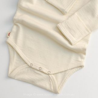 MERINO KIDS BODYSUIT CREAM - ONESIE - BABYGRO - BABY SHOWER GIFT