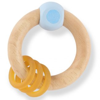 Hevea Rubberwood Rattle Teether