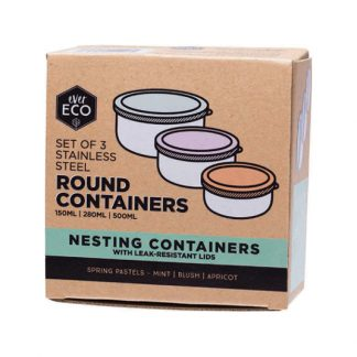 EVER ECO STAINLESS STEEL ROUND NESTING FOOD STORAGE