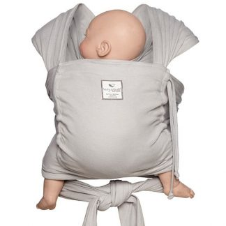 HUG-A-BUB ORGANIC BABY WRAP- SILVER WITH POCKET