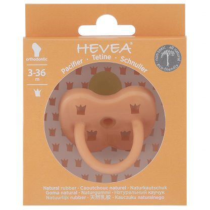 HEVEA Orthodontic Pacifier Cantaloupe
