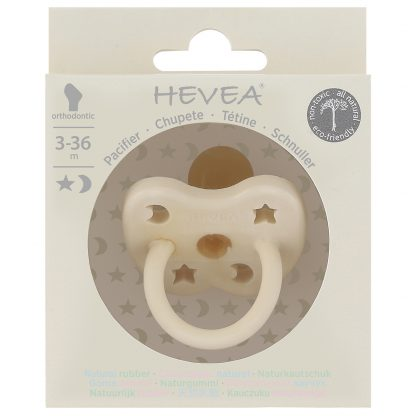 HEVEA Orthodontic Pacifier Milky White