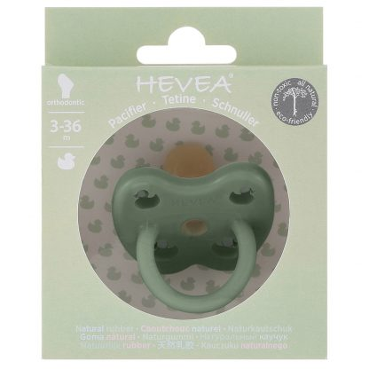 HEVEA Orthodontic Pacifier Moss Green