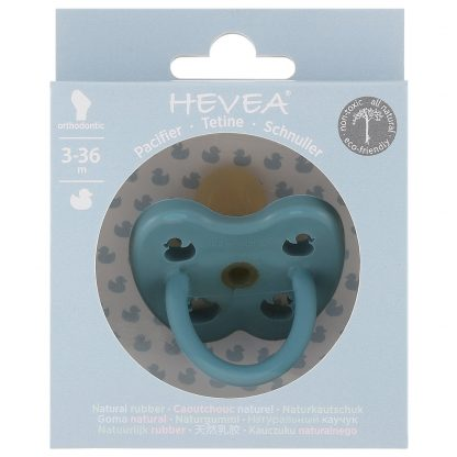 HEVEA Orthodontic Pacifier Twilight Blue