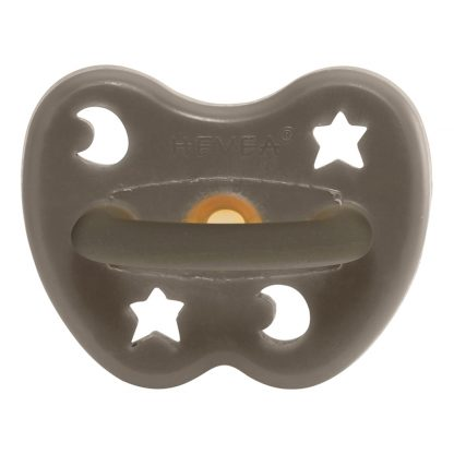 HEVEA Orthodontic Pacifier Shitake Grey